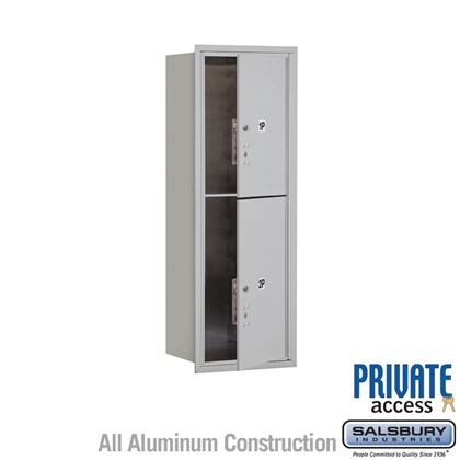 Recessed Mounted 4C Horizontal Mailbox (Includes Master Commercial Locks) - 11 Door High Unit (41 Inches) - Single Column - Stand-Alone Parcel Locker - 1 PL5 and 1 PL6 - Front Loading - Private Access