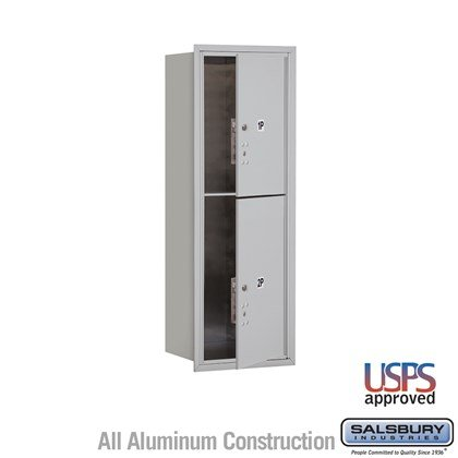 Recessed Mounted 4C Horizontal Mailbox - 11 Door High Unit (41 Inches) - Single Column - Stand-Alone Parcel Locker - 1 PL5 and 1 PL6 - Front Loading - USPS Access