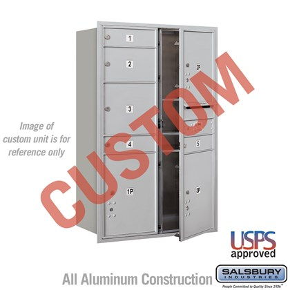 Custom Recessed Mounted 4C Horizontal Mailbox - 12 Door High Unit (44 1/2 Inches) - Double Column - Custom - Front Loading - USPS Access