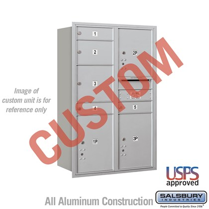 Custom Recessed Mounted 4C Horizontal Mailbox - 12 Door High Unit (44 1/2 Inches) - Double Column - Custom - Rear Loading - USPS Access