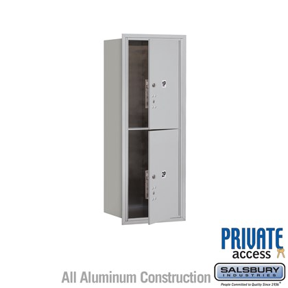 Custom Recessed Mounted 4C Horizontal Mailbox (Includes Master Commercial Locks) - 12 Door High Unit (44 1/2 Inches) - Single Column - Stand-Alone Parcel Locker  - 2 PL6s - Front Loading - Private Access