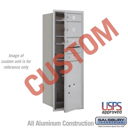 Custom Recessed Mounted 4C Horizontal Mailbox - 12 Door High Unit (44 1/2 Inches) - Single Column - Custom - Front Loading - USPS Access
