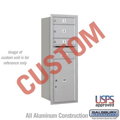 Custom Recessed Mounted 4C Horizontal Mailbox - 12 Door High Unit (44 1/2 Inches) - Single Column - Custom - Rear Loading - USPS Access