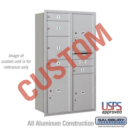 Custom Recessed Mounted 4C Horizontal Mailbox - 13 Door High Unit (48 Inches) - Double Column - Custom - Rear Loading - USPS Access