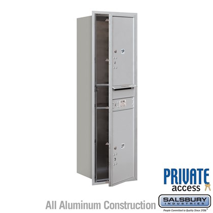 Recessed Mounted 4C Horizontal Mailbox (Includes Master Commercial Locks) - 14 Door High Unit (51 1/2 Inches) - Single Column - Stand-Alone Parcel Locker  - 2 PL6s - Front Loading - Private Access