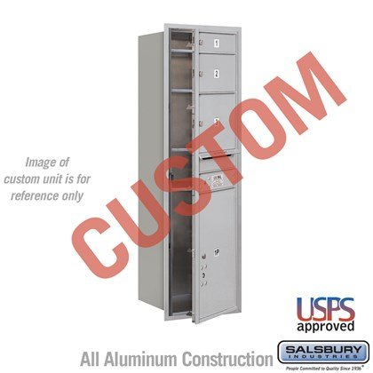 Custom Recessed Mounted 4C Horizontal Mailbox - 14 Door High Unit (51 1/2 Inches) - Single Column - Custom - Front Loading - USPS Access