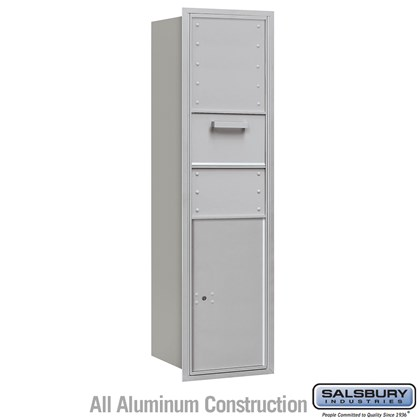 Recessed Mounted 4C Horizontal Collection Box - Maximum Height Unit (56 3/4 Inches) - Single Column - Rear Access