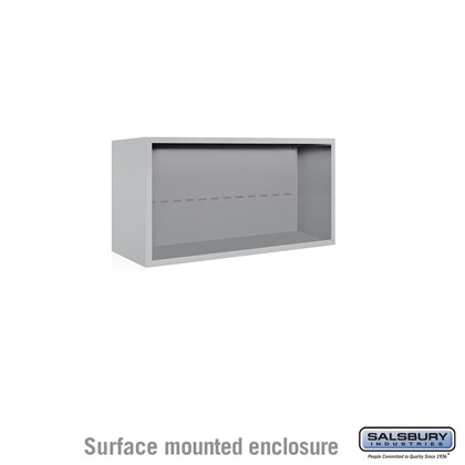 4C Horizontal Mailbox Enclosure - for 4 Door High Unit - Double Column - Surface Mounted
