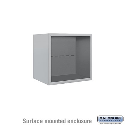 4C Horizontal Mailbox Enclosure - for 4 Door High Unit - Single Column - Surface Mounted