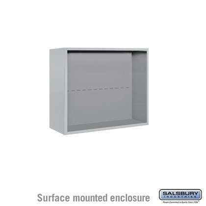 4C Horizontal Mailbox Enclosure - for 6 Door High Unit - Double Column - Surface Mounted