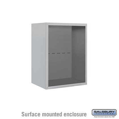 4C Horizontal Mailbox Enclosure - for 6 Door High Unit - Single Column - Surface Mounted