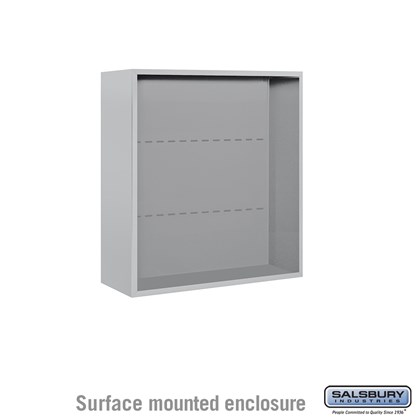 4C Horizontal Mailbox Enclosure - for 8 Door High Unit - Double Column - Surface Mounted