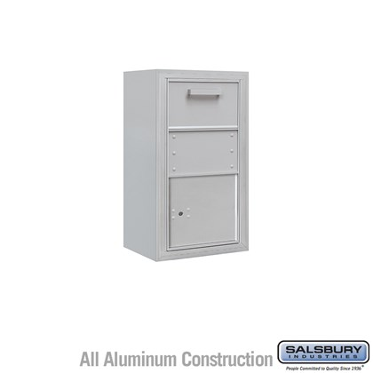 Surface Mounted 4C Horizontal Collection Box (Includes 3708S-1C and 3808S Enclosure) - Single Column - Front Access