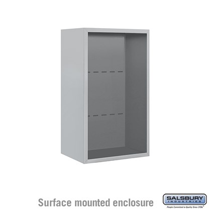 4C Horizontal Mailbox Enclosure - for 8 Door High Unit - Single Column - Surface Mounted