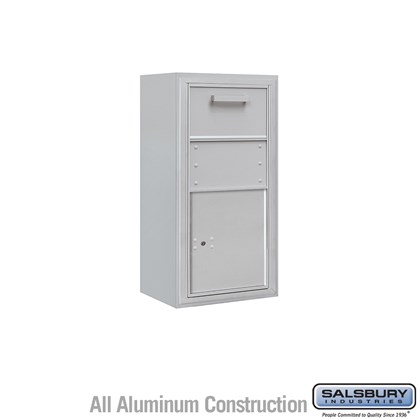 Surface Mounted 4C Horizontal Collection Box (Includes 3709S-1C and 3809S Enclosure) - Single Column - Front Access