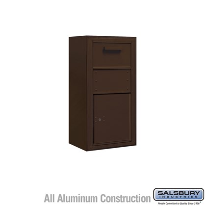 Surface Mounted 4C Horizontal Collection Box (Includes 3709S-1CZF and 3809S-BRZ Enclosure) - Single Column - Bronze - Front Access