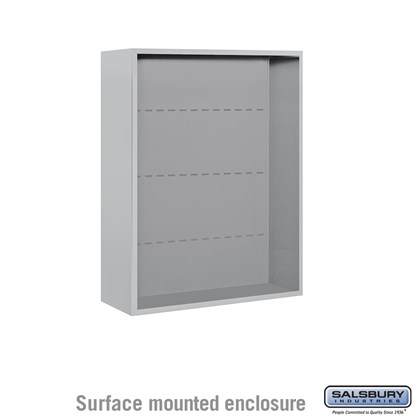 4C Horizontal Mailbox Enclosure - for 10 Door High Unit - Double Column - Surface Mounted