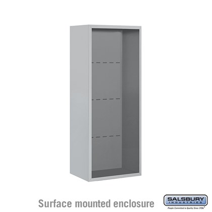 4C Horizontal Mailbox Enclosure - for 10 Door High Unit - Single Column - Surface Mounted