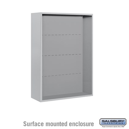 4C Horizontal Mailbox Enclosure - for 11 Door High Unit - Double Column - Surface Mounted