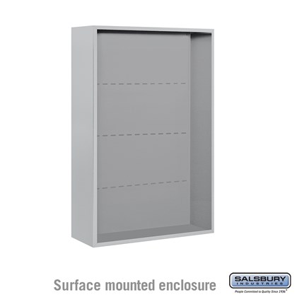 4C Horizontal Mailbox Enclosure - for 12 Door High Unit - Double Column - Surface Mounted