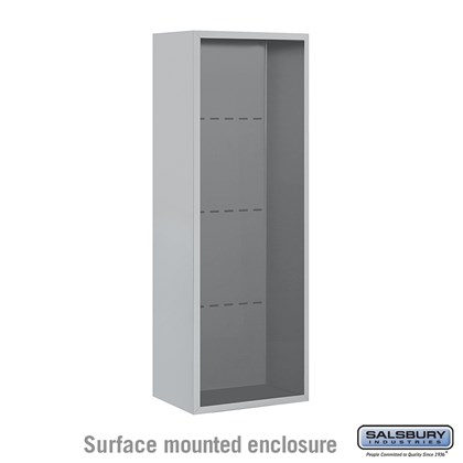 4C Horizontal Mailbox Enclosure - for 12 Door High Unit - Single Column - Surface Mounted