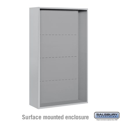 4C Horizontal Mailbox Enclosure - for 14 Door High Unit - Double Column - Surface Mounted