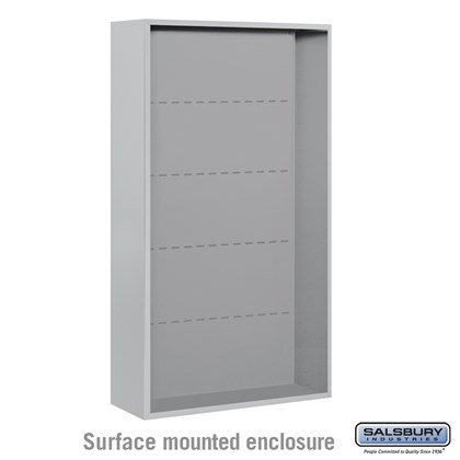 4C Horizontal Mailbox Enclosure - for Maximum Height Unit - Double Column - Surface Mounted