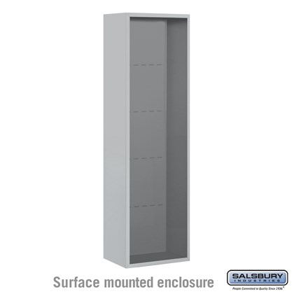 4C Horizontal Mailbox Enclosure - for Maximum Height Unit - Single Column - Surface Mounted
