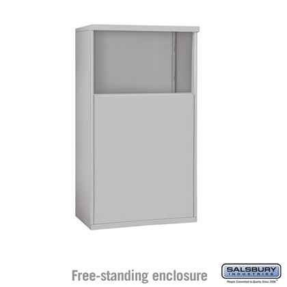 4C Horizontal Mailbox Enclosure - for 4 Door High Unit - Double Column - Free-Standing