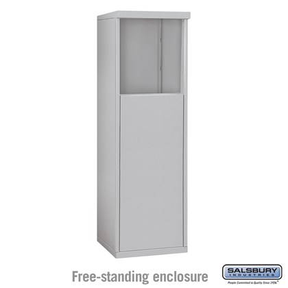 4C Horizontal Mailbox Enclosure - for 4 Door High Unit - Single Column - Free-Standing
