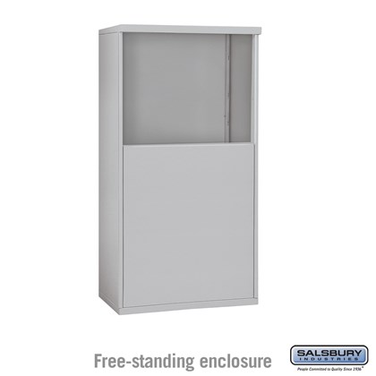 4C Horizontal Mailbox Enclosure - for 6 Door High Unit - Double Column - Free-Standing