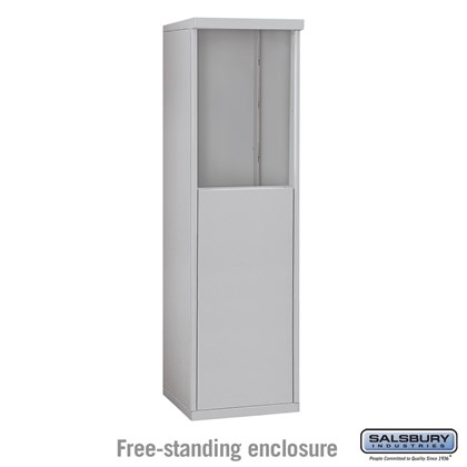 4C Horizontal Mailbox Enclosure - for 6 Door High Unit - Single Column - Free-Standing