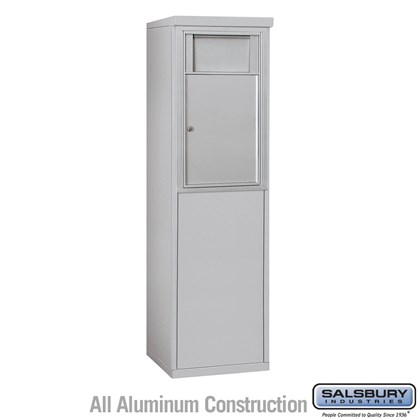 Custom Free-Standing 4C Horizontal Receptacle Bin (Includes 3707S-1B and 3907S Enclosure) - 7 Door High Unit (55-1/4 Inches) - Single Column - 1 Receptacle Bin - Front Access
