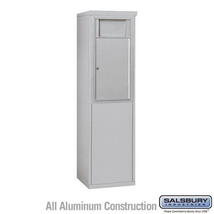 Custom Free-Standing 4C Horizontal Receptacle Bin (Includes 3708S-1B and 3908S Enclosure) - 8 Door High Unit (58-3/4 Inches) - Single Column - 1 Receptacle Bin - Front Access