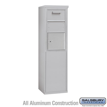 Custom Free-Standing 4C Horizontal Collection Box (Includes 3708S-1C and 3908S Enclosure) - 8 Door High Unit (58-3/4 Inches) - Single Column - Front Access