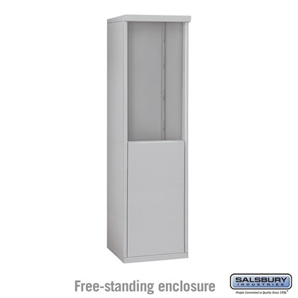 4C Horizontal Mailbox Enclosure - for 8 Door High Unit - Single Column - Free-Standing