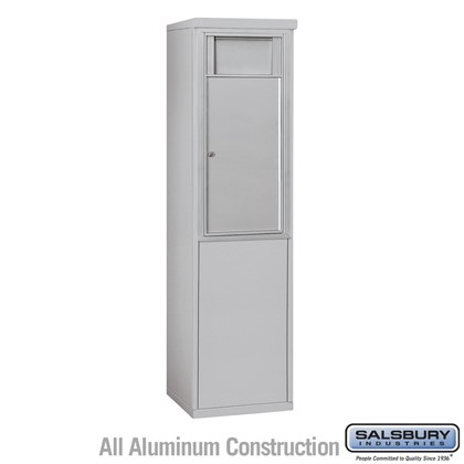 Custom Free-Standing 4C Horizontal Receptacle Bin (Includes 3709S-1B and 3909S Enclosure) - 9 Door High Unit (62-1/4 Inches) - Single Column - 1 Receptacle Bin - Front Access