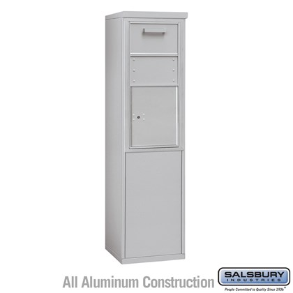 Custom Free-Standing 4C Horizontal Collection Box (Includes 3709S-1C and 3909S Enclosure) - 9 Door High Unit (62-1/4 Inches) - Single Column - Front Access