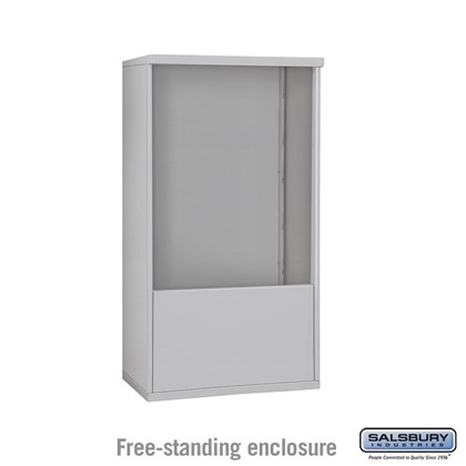 4C Horizontal Mailbox Enclosure ADA Height Compliant Unit - for 10 Door High - Double Column - Free-Standing