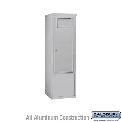 Free-Standing 4C Horizontal Receptacle Bin (Includes 3710S-1B and 3910S Enclosure) - 10 Door High Unit (52-3/4 Inches) - Single Column - 1 Receptacle Bin - Front Access