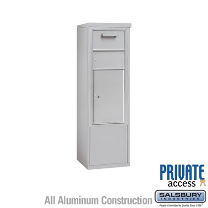 Free-Standing 4C Horizontal Collection Box (Includes 3710S-1C and 3910S Enclosure) - 10 Door High Unit (52-3/4 Inches) -  Single Column - Front Access