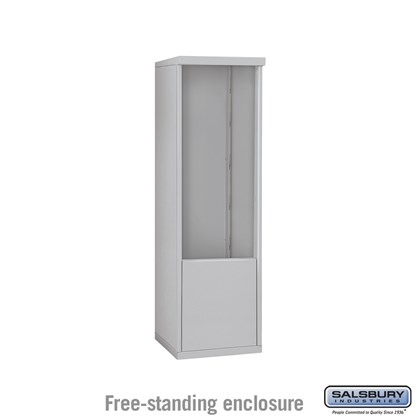 4C Horizontal Mailbox Enclosure ADA Height Compliant Unit - for 10 Door High - Single Column - Free-Standing