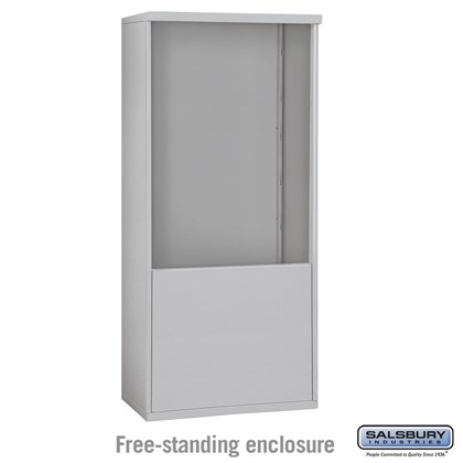 4C Horizontal Mailbox Enclosure - for 11 Door High Unit - Double Column - Free-Standing