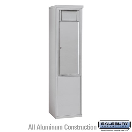 Free-Standing 4C Horizontal Receptacle Bin (Includes 3711S-1B and 3911S Enclosure) - 11 Door High Unit (69-1/4 Inches) - Single Column - 1 Receptacle Bin - Front Access