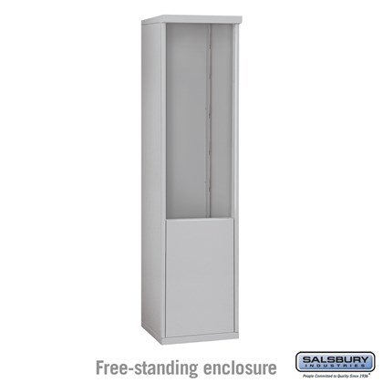 4C Horizontal Mailbox Enclosure - for 11 Door High Unit - Single Column - Free-Standing