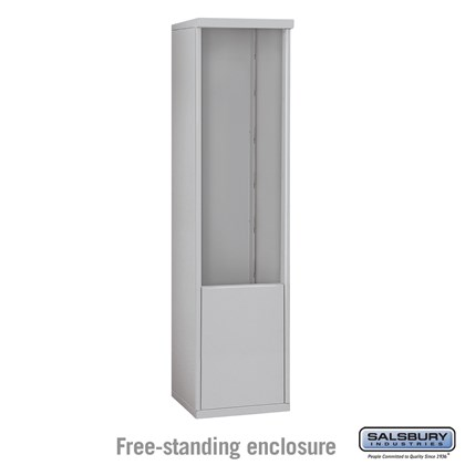 4C Horizontal Mailbox Enclosure - for 12 Door High Unit - Single Column - Free-Standing