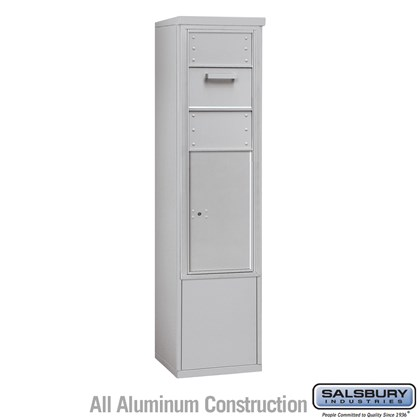 Custom Free-Standing 4C Horizontal Collection Box (Includes 3713S-1C and 3913S Enclosure) - 13 Door High Unit (69-1/4 Inches) - Single Column - Front Access