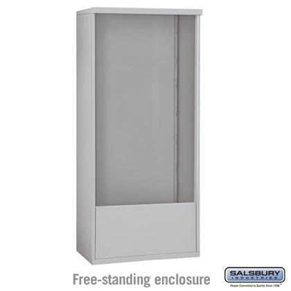 4C Horizontal Mailbox Enclosure - for 14 Door High Unit - Double Column - Free-Standing