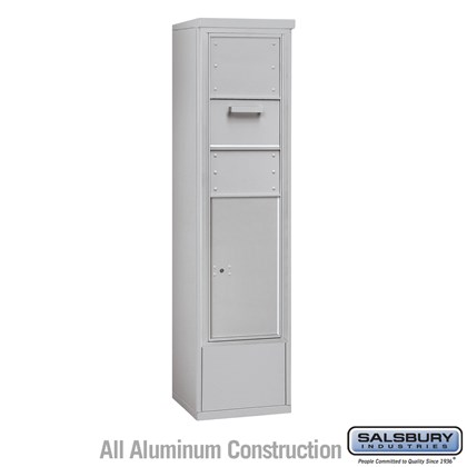 Custom Free-Standing 4C Horizontal Collection Box (Includes 3714S-1C and 3914S Enclosure) - 14 Door High Unit (69-1/4 Inches) - Single Column - Front Access