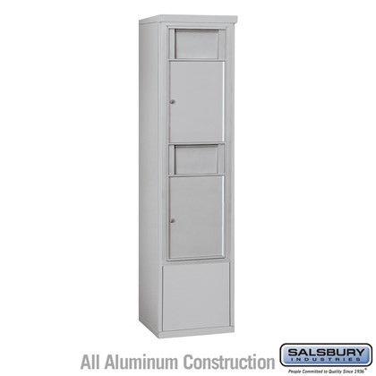 Custom Free-Standing 4C Horizontal Receptacle Bins (Includes 3714S-2B and 3914S Enclosure) - 14 Door High Unit (69-1/4 Inches) - Single Column - 2 Receptacle Bins - Front Access